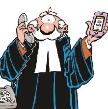 Serie cartoons 'de Rechter'
