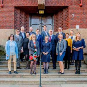 Groepsfoto nieuwe generatie Rechtspraakbestuurders