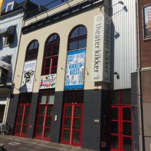 Morgen lachen we erom, gevel theater Kikker