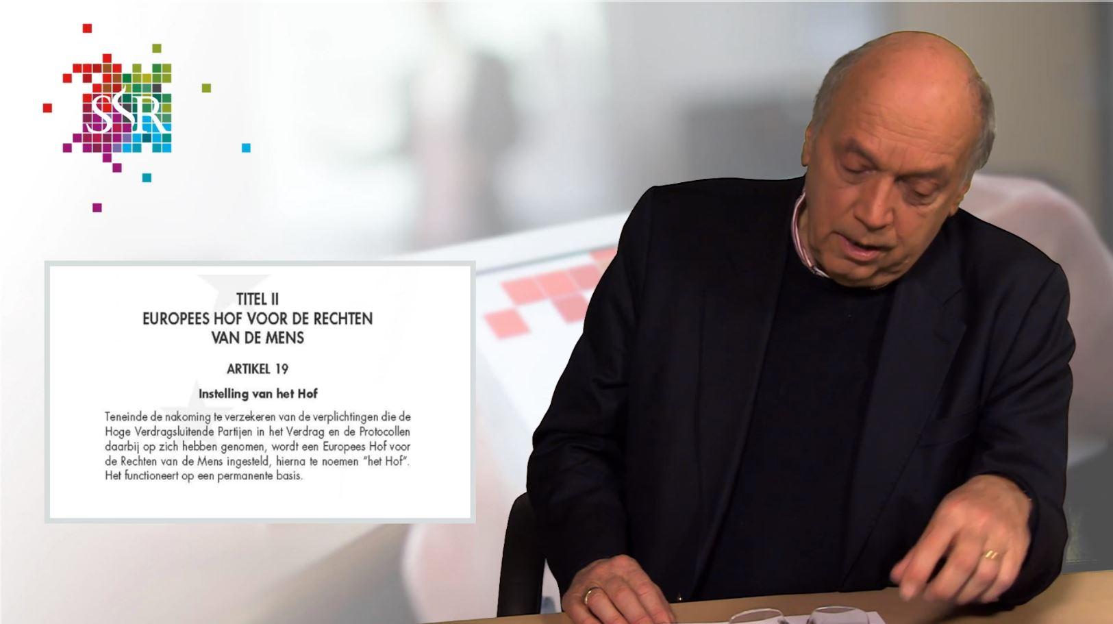 prof. mr. Egbert Myjer presenteert een webcollege