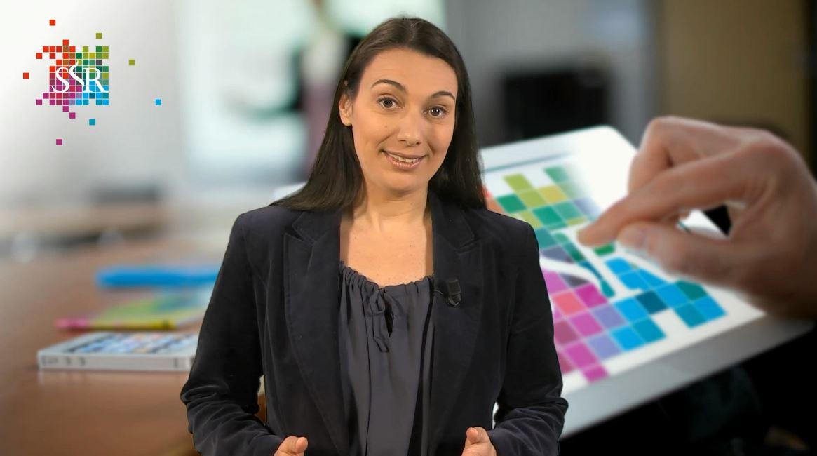 Maartje Vrins presenteert een webcollege