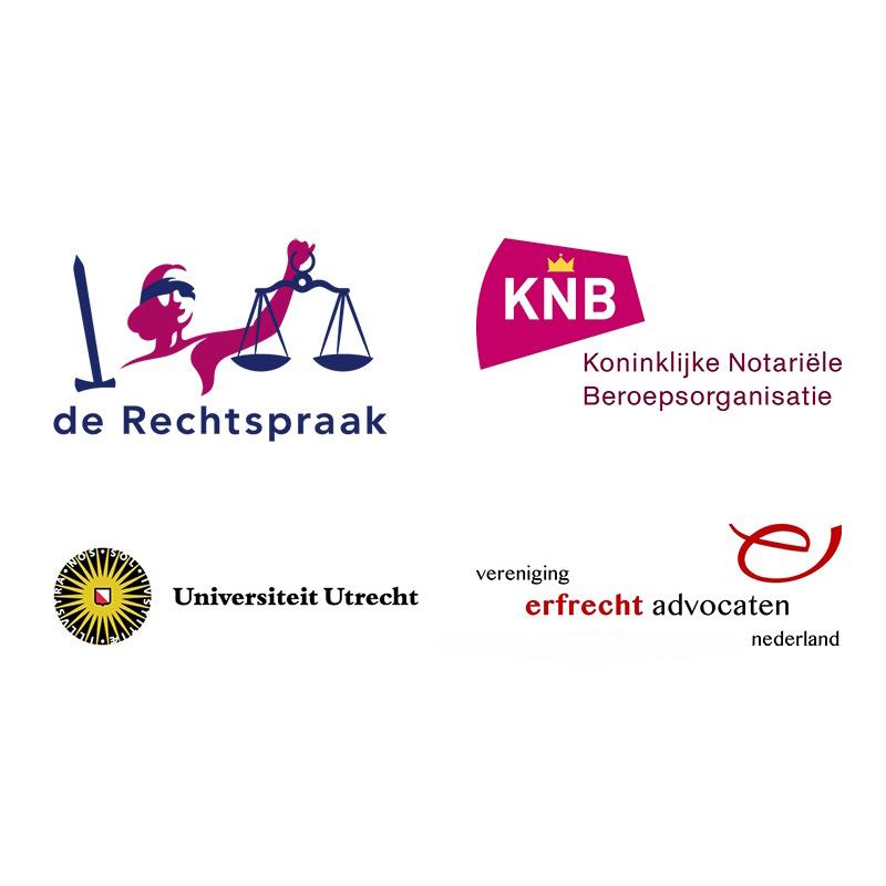 Logo's Rechtspraak, KNB, Universiteit Utrecht en VEAN