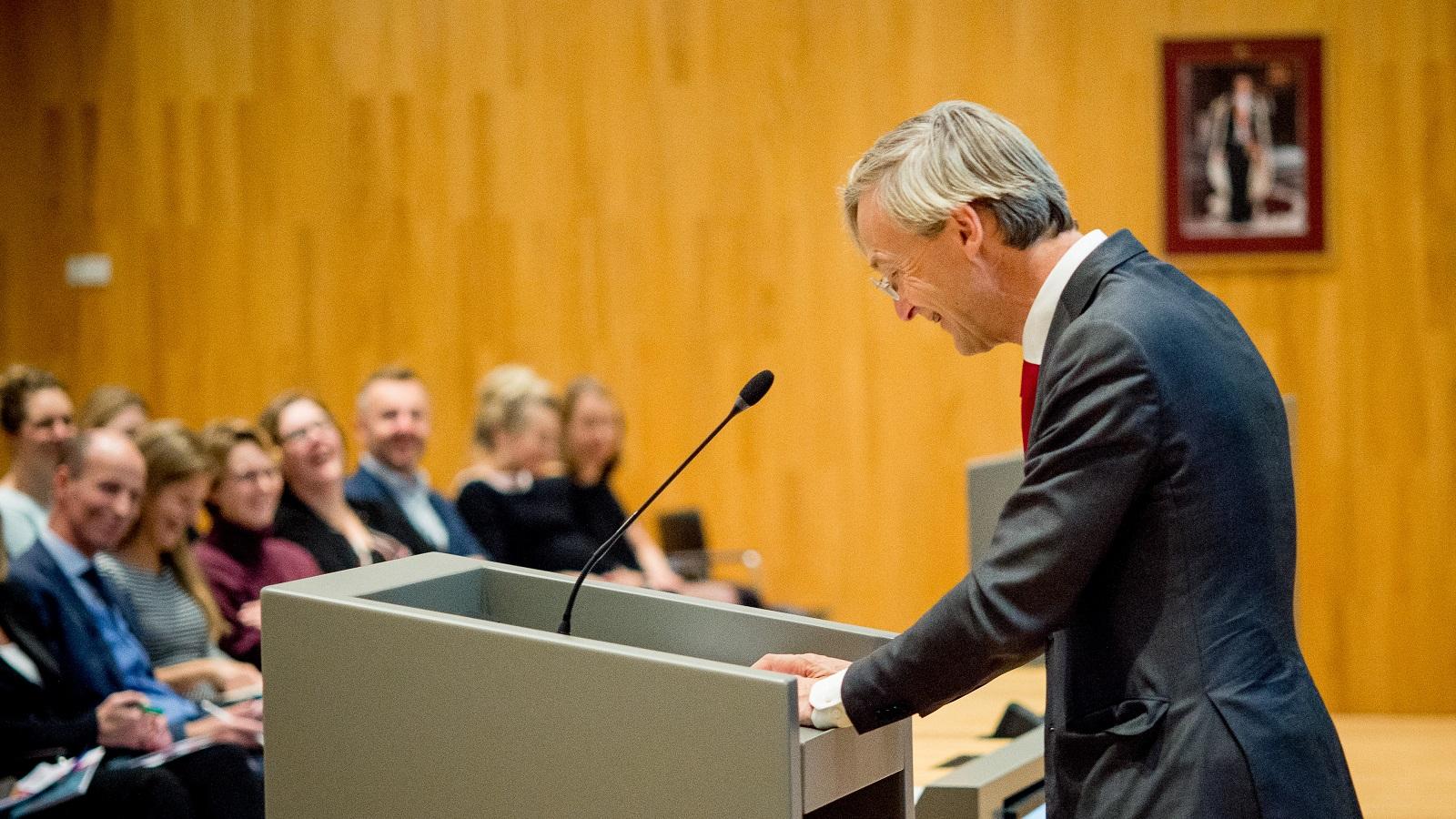 Maarten Feteris tijdens rio-symposium 2018