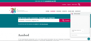 screenshot website met chat-functie